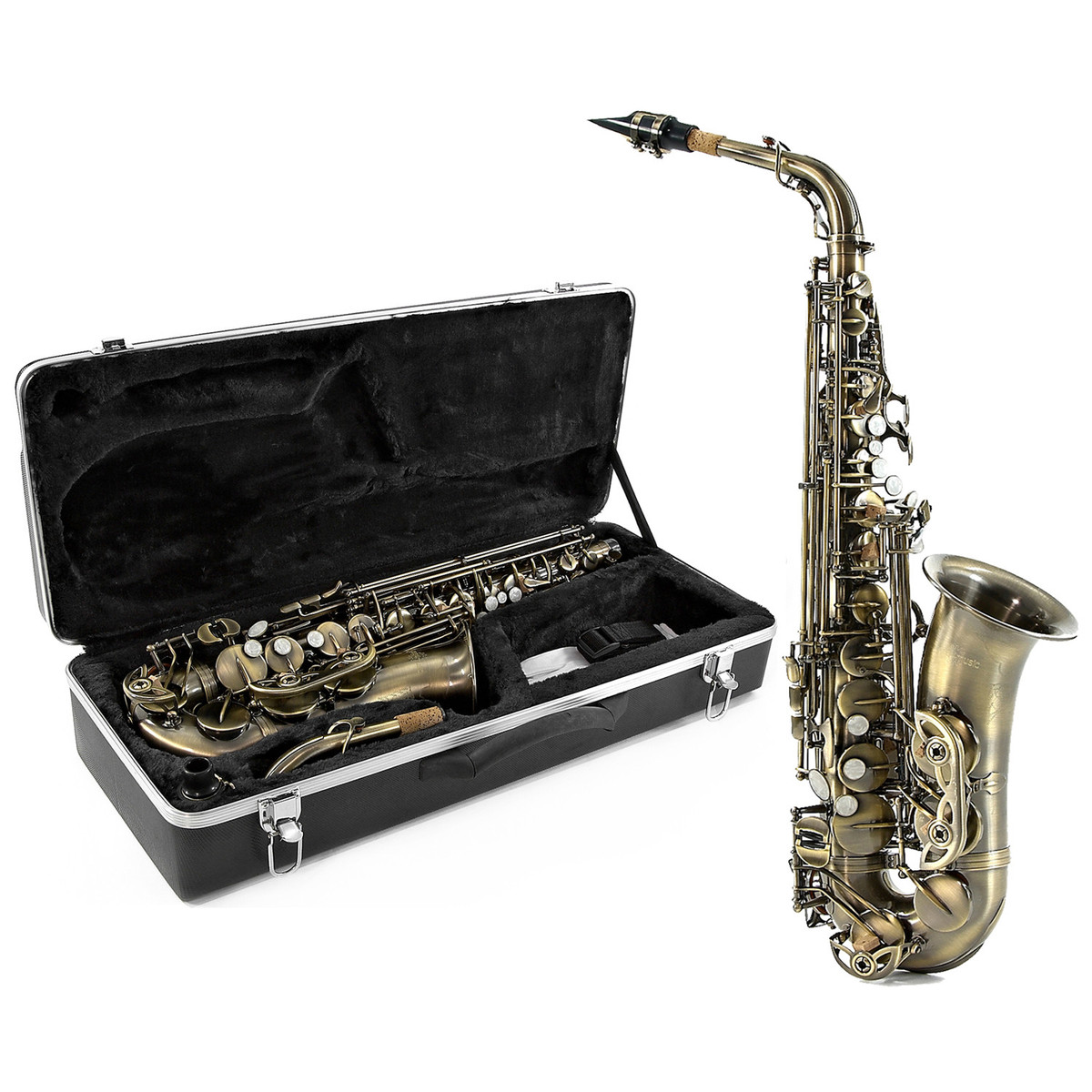 saxophone alto par gear4music vintage comme neuf. Black Bedroom Furniture Sets. Home Design Ideas