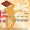 Cordes pour guitare acoustique Rotosound Tru TB12 Bronze cuivre alliage, 12-54