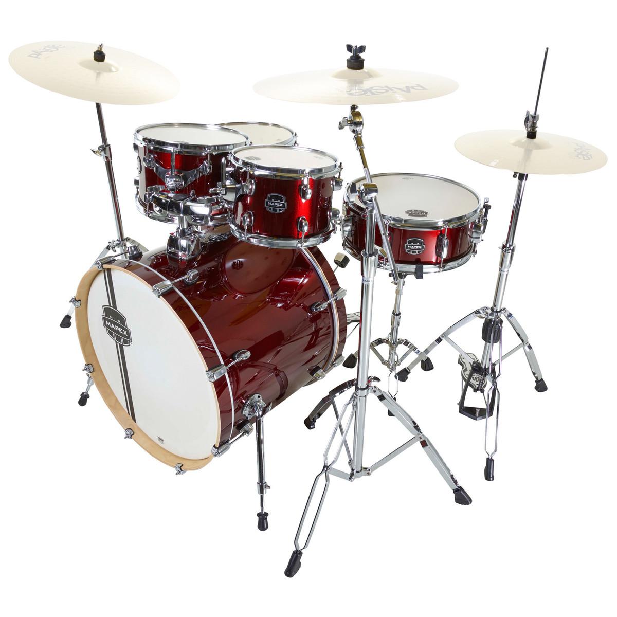 mapex horizon ii 22 39 39 rock fusion drum kit burgundy at. Black Bedroom Furniture Sets. Home Design Ideas