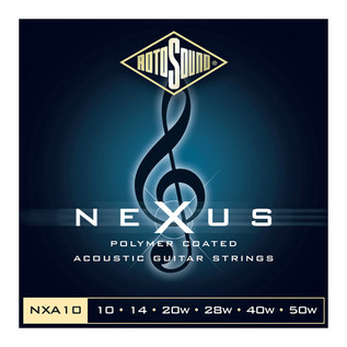 Rotosound NEXUS Coated Phosphor Bronze Acoustic Guitar Strings, 10-50