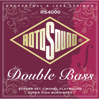 Rotosound RS4000M Flatwound Silked Double Bass Strings