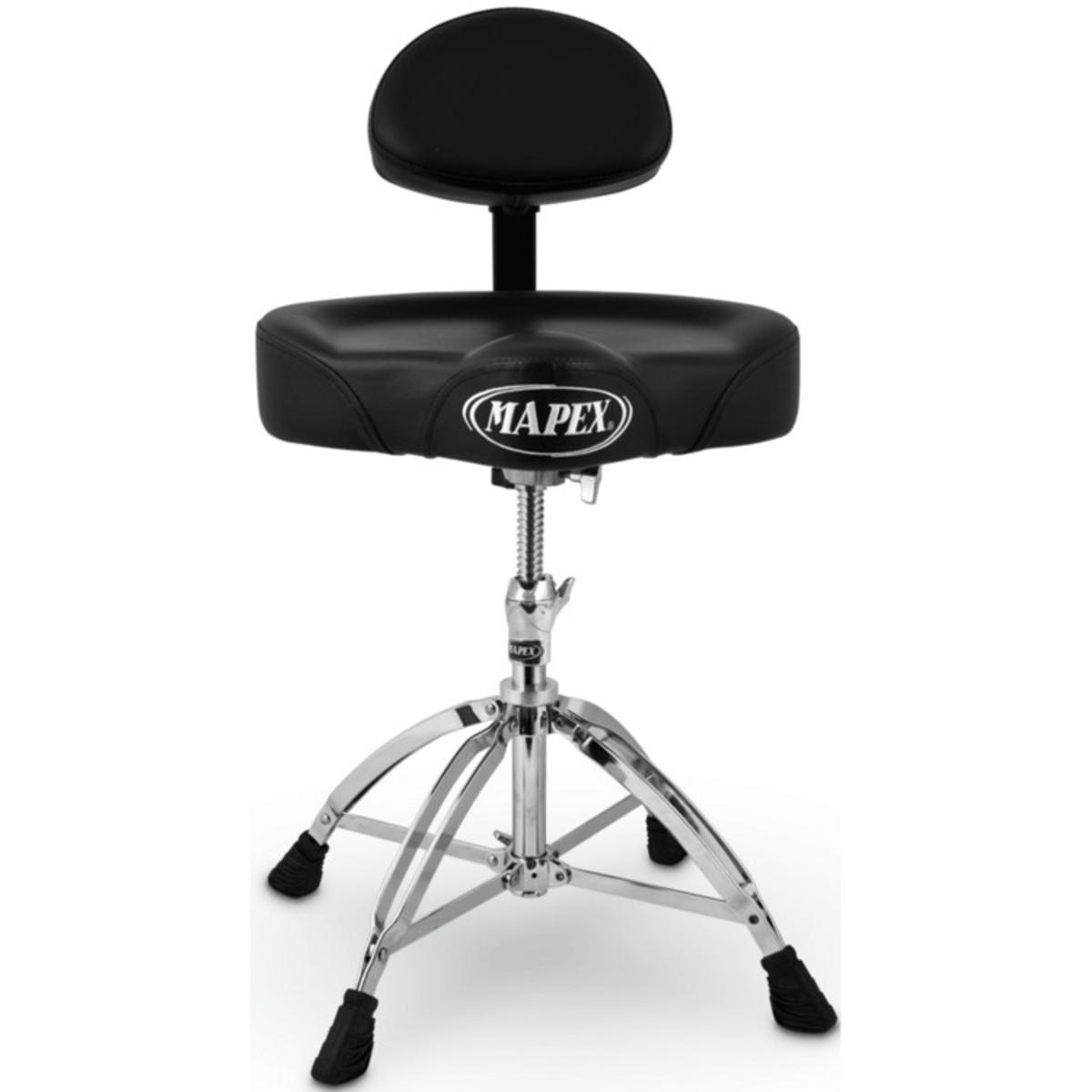 Mapex Drum Stool Saddle Top With Backrest 4 Leg Base