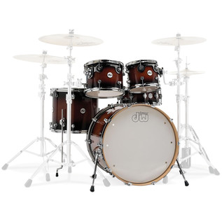 DW Design Series Gloss Lacquer 22'' Maple Shell Pack, Tobacco Burst