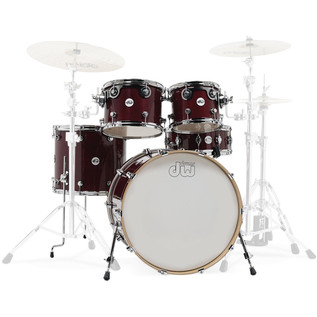 DW Design Series Gloss Lacquer 22'' Maple Shell Pack, Cherry Stain