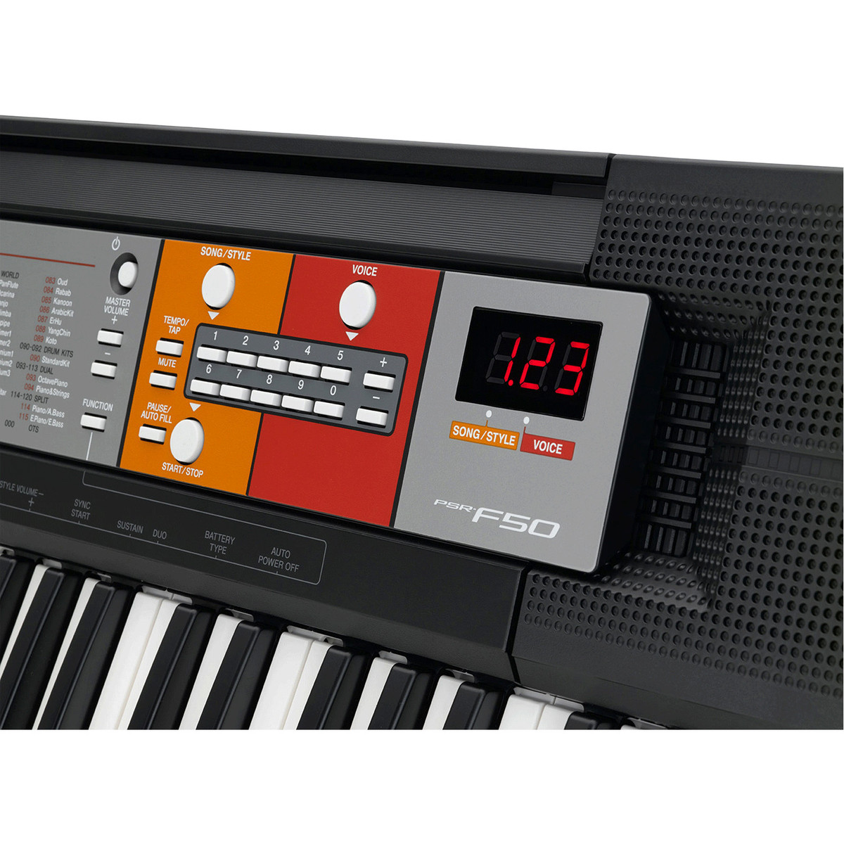 yamaha psr f50 portable keyboard at. Black Bedroom Furniture Sets. Home Design Ideas
