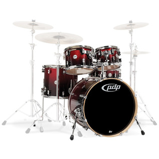 PDP Drums Concept Maple 22'' CM5 Shell Pack, Red/Black Sparkle
