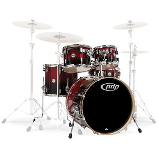 PDP Drums Concept Birch 22'' CB5 Shell Pack, Cherry to Black Fade