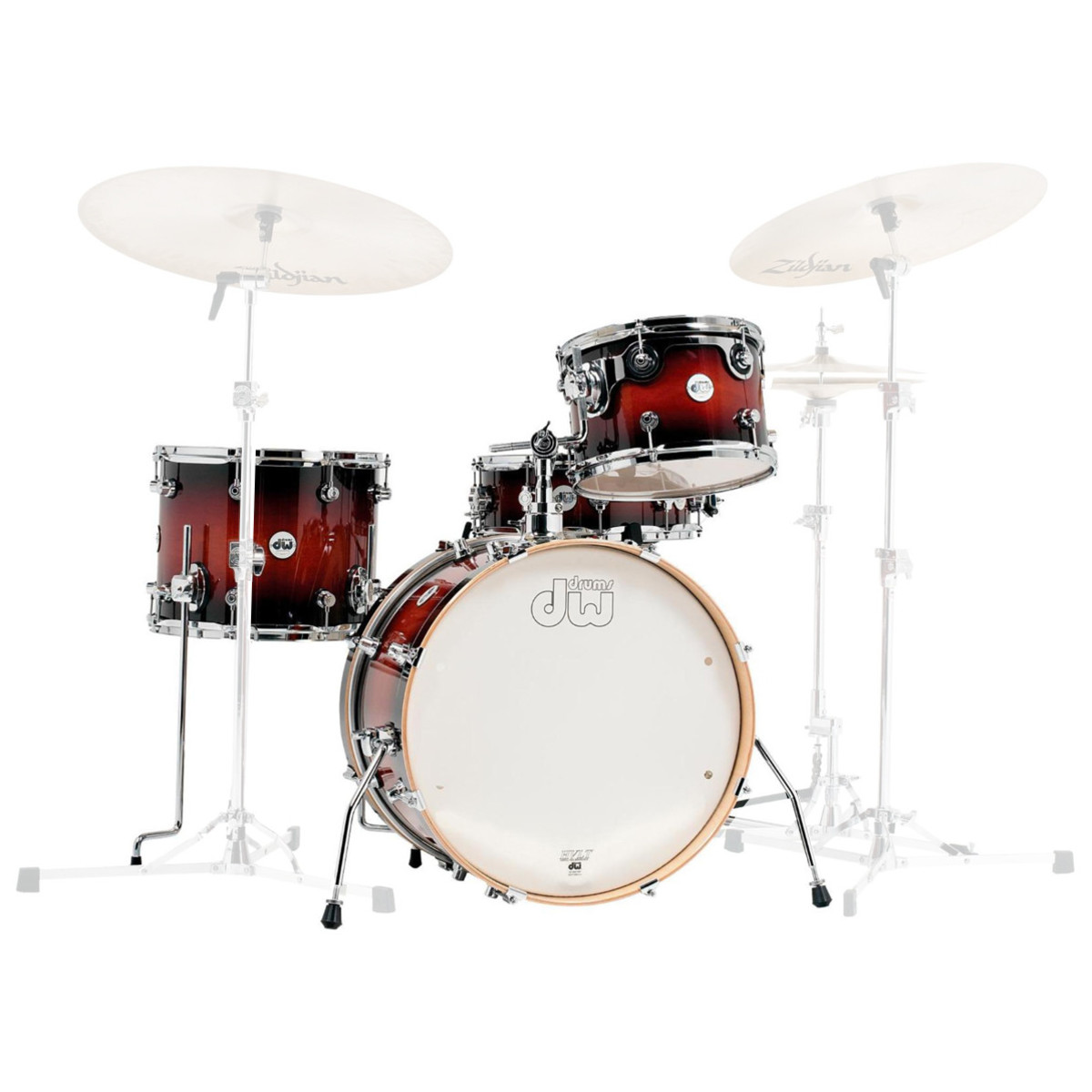dw drums design frequent flyer 20 39 39 shell pack gloss tobacco burst at. Black Bedroom Furniture Sets. Home Design Ideas