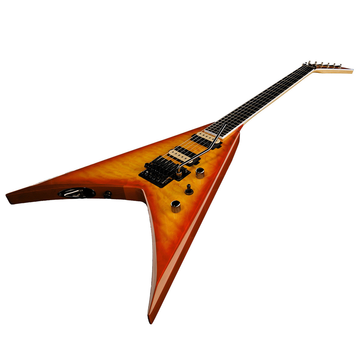 jackson kvq pro series king v electric guitar transparent amber at. Black Bedroom Furniture Sets. Home Design Ideas