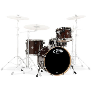 PDP Drums Concept Maple 20'' CM4 Shell Pack, Transparent Walnut