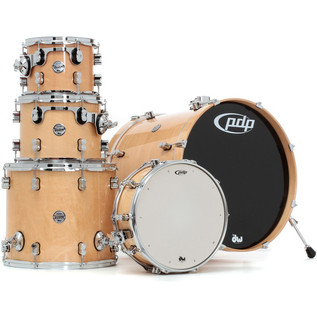 PDP Drums Concept Maple 22'' CM5 Shell Pack, Natural Laquer