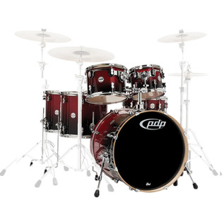 PDP Drums Concept Birch 22'' CB6 Shell Pack, Cherry to Black fade