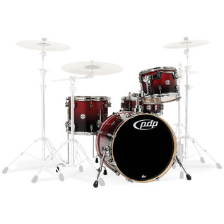 PDP Drums Concept Birch 20'' CB4 Shell Pack, Cherry to Black fade