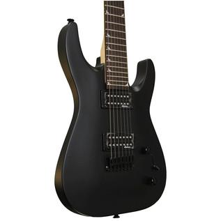 Jackson JS22-7 Dinky 7-String Electric Guitar, Satin Black