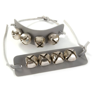 Percussion Plus PP1054 Wrist Bells With Tie Strap, 4 Bells (Pair)
