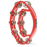 Percussion Plus Double Oval Tambourine PP484, Red