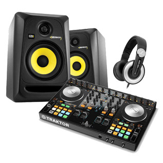 Native Instruments Traktor Kontrol S4 MK2, KRK RP5 and Headphones