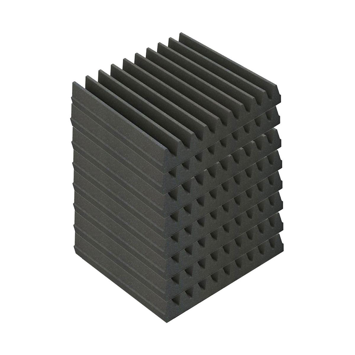 Image of EQ Acoustics Classic Wedge 30 30cm Foam Tiles Grey (8 Pack)