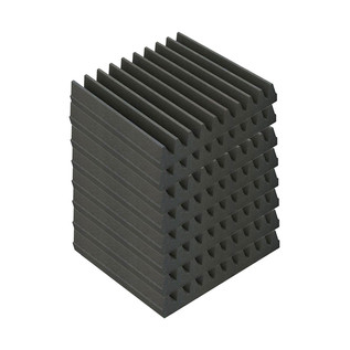 EQ Acoustics Classic Wedge 30, 30cm Foam Tiles Grey (8 Pack)