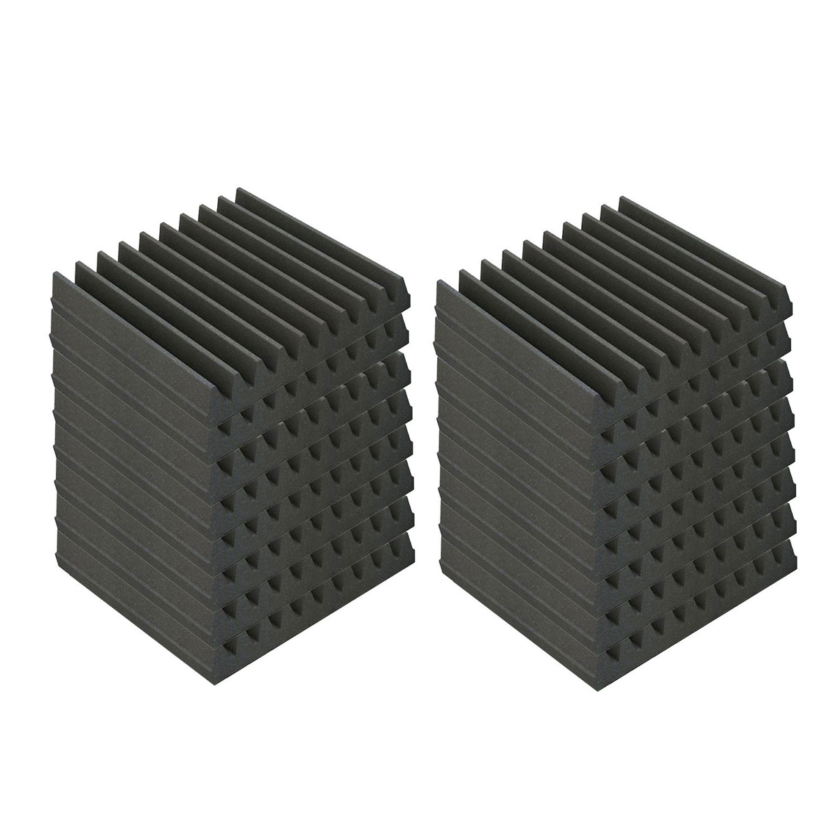 Image of EQ Acoustics Classic Wedge 30 30cm Foam Tiles Grey (16 Pack)