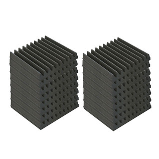 EQ Acoustics Classic Wedge 30, 30cm Foam Tiles Grey (16 Pack)
