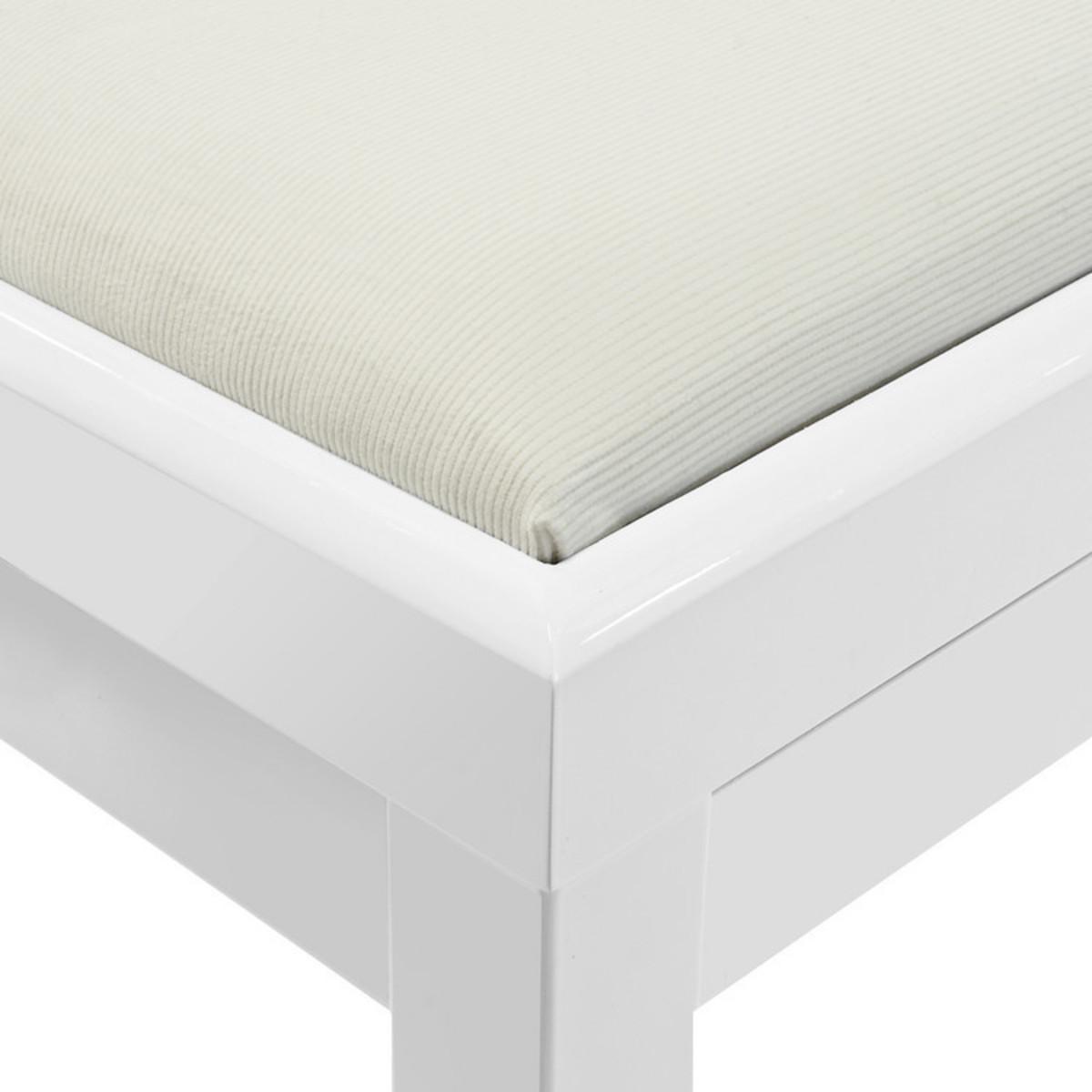 tabouret de piano r glable par gear4music blanc comme neuf. Black Bedroom Furniture Sets. Home Design Ideas