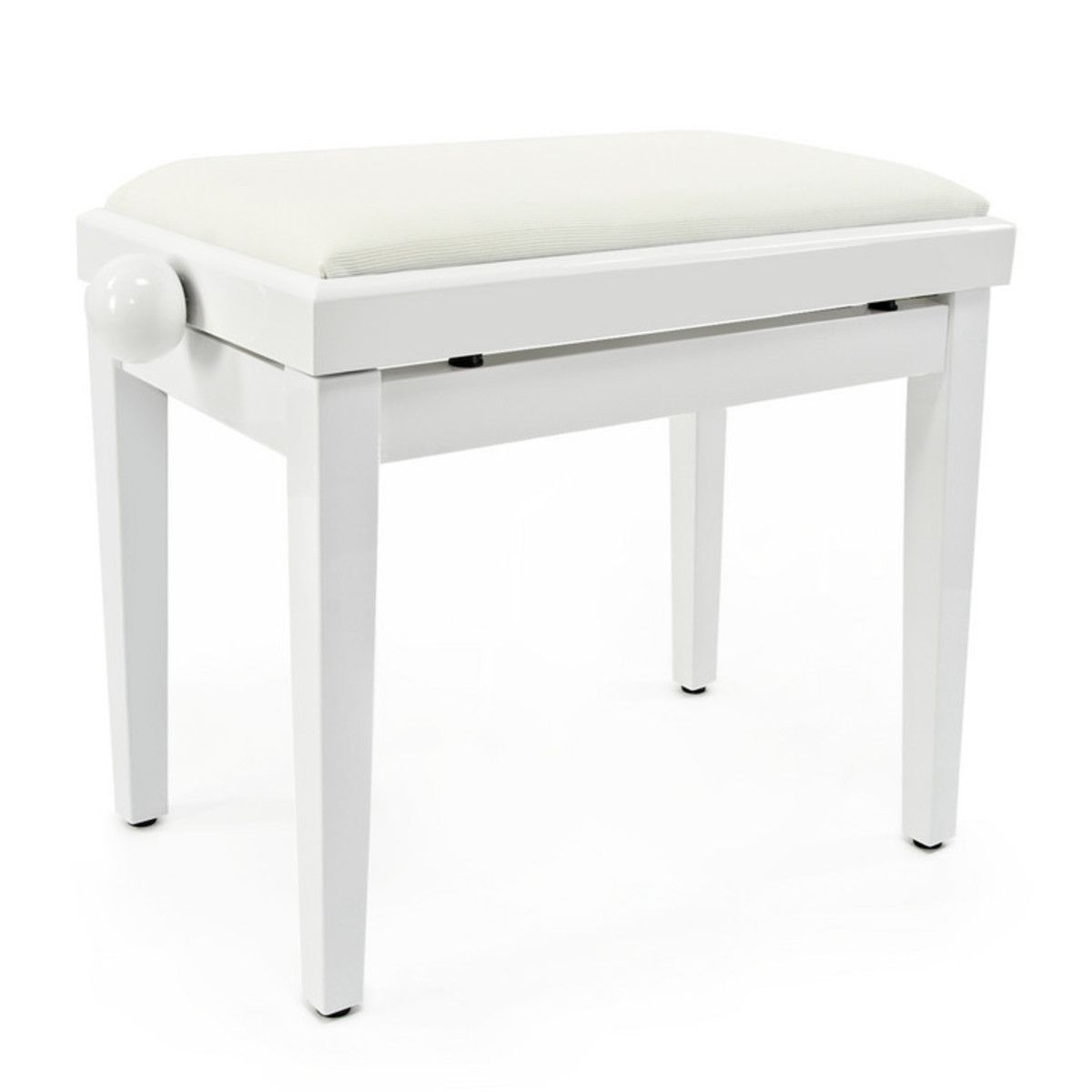 tabouret de piano r glable par gear4music blanc comme neuf. Black Bedroom Furniture Sets. Home Design Ideas