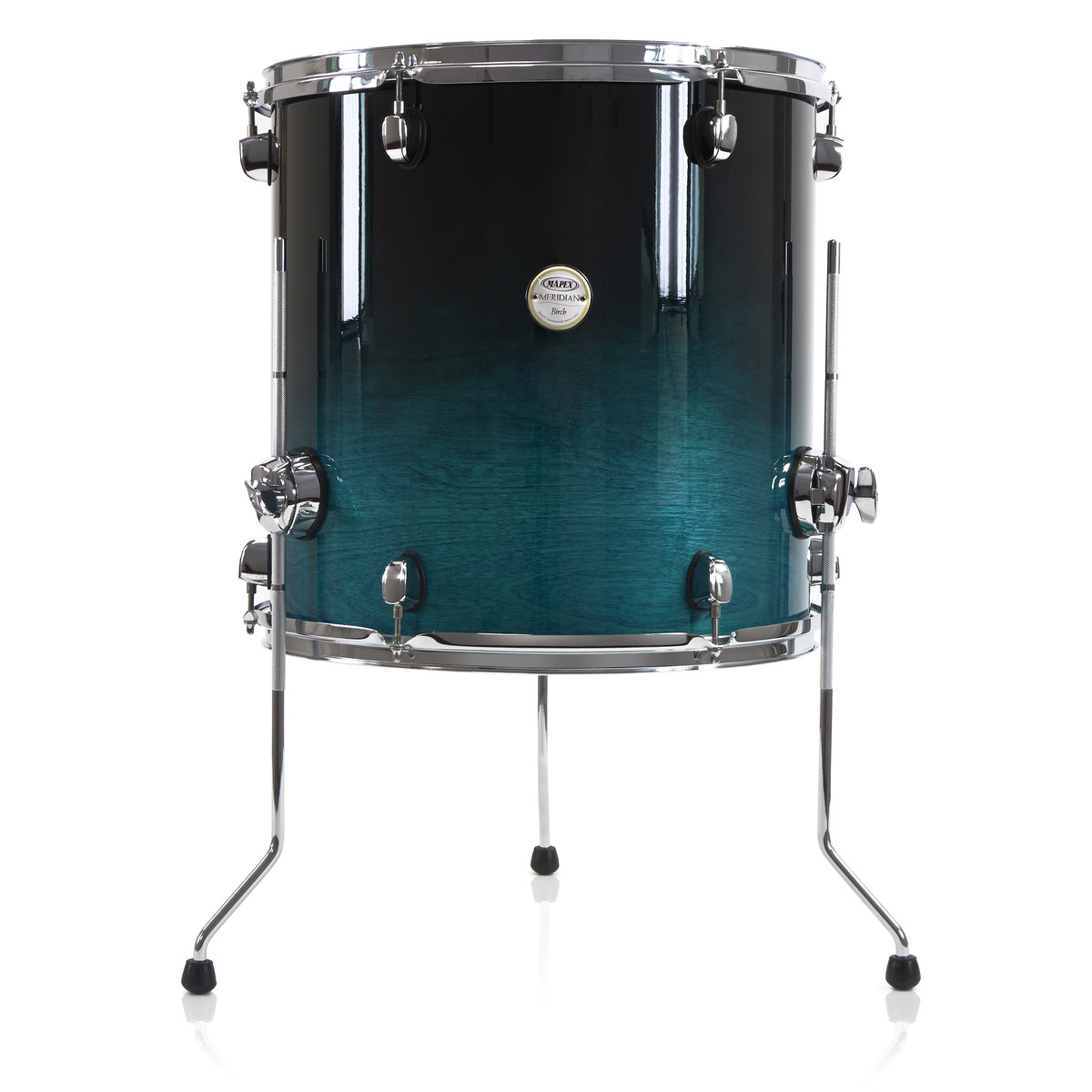 mapex meridian birch 16 39 39 floor tom sapphire fade at