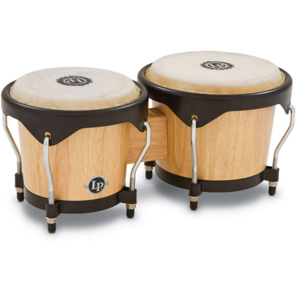 Lp wood bongos natural at gear music