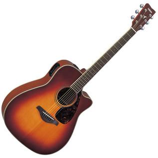 Yamaha FGX720SCA Electro Acoustic Guitar, Sunburst with FREE Gig Bag