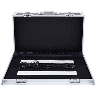 Rockcase RC-23100B Pedalboard Case With Power Supply, 6-8 Pedals
