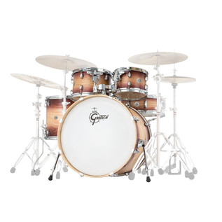 Gretsch Drums Catalina Ash 5 Pc Shell Pack, Walnut Natural Burst