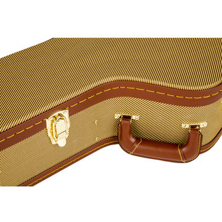Fender Jumbo Acoustic Arch Top Guitar Case, Tweed