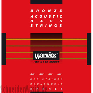 Warwick Red Bronze Acoustic Bass Strings, 4 Medium Scale Strings