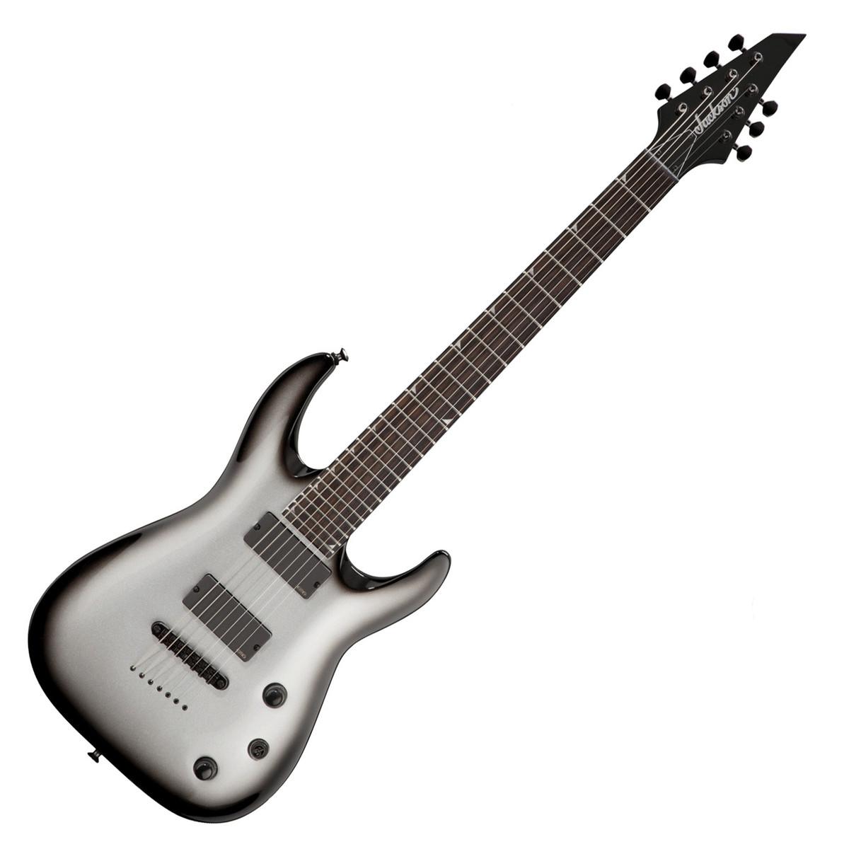 jackson x series slattxmg3 7 soloist 7 string guitar silverburst at. Black Bedroom Furniture Sets. Home Design Ideas