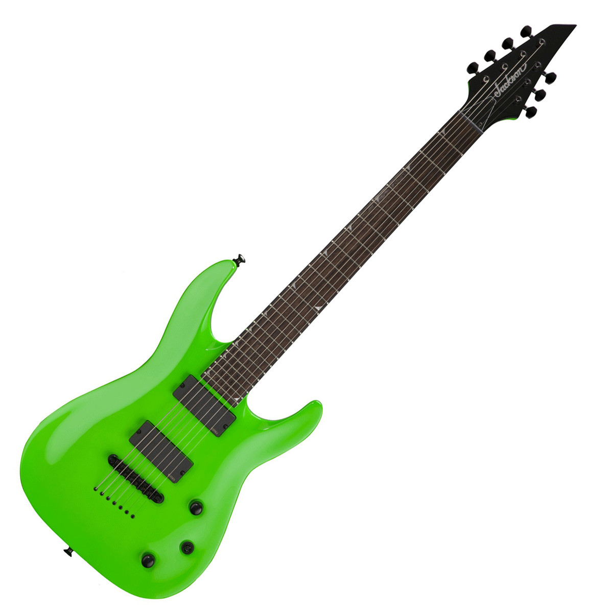 jackson x series slattxmg3 7 soloist 7 string guitar slime green at. Black Bedroom Furniture Sets. Home Design Ideas