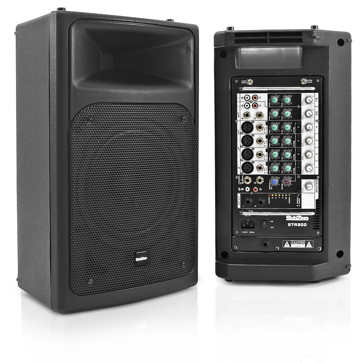 subzero 300w portable pa system by gear4music nearly new at. Black Bedroom Furniture Sets. Home Design Ideas