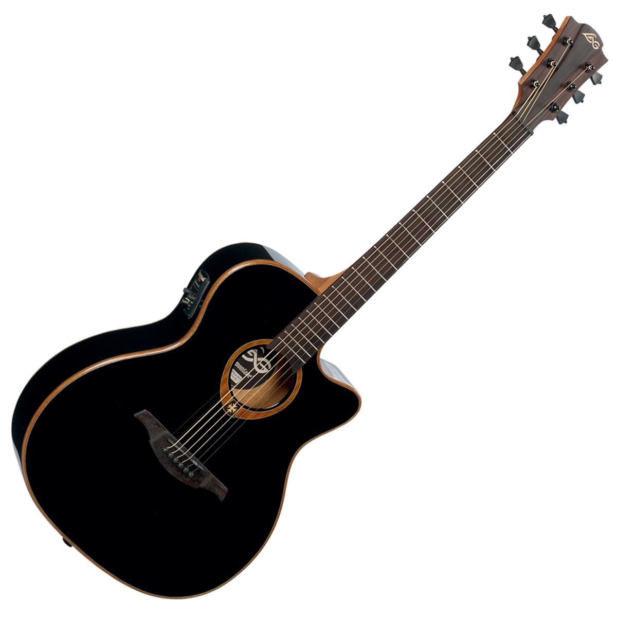 lag tramontane t100ace guitare lectro acoustique noir. Black Bedroom Furniture Sets. Home Design Ideas
