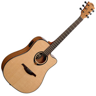 LAG T80DCE Electro-Acoustic Guitar, Natural