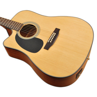 Sigma DMC-1STEL Left Handed Electro Acoustic Guitar, Natural