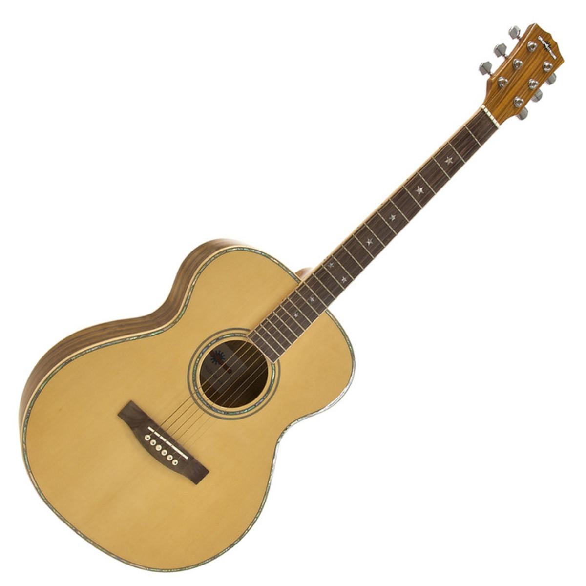 guitare acoustique folk deluxe par gear4music zebrano. Black Bedroom Furniture Sets. Home Design Ideas