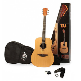 LAG T44DPK Acoustic Guitar Pack