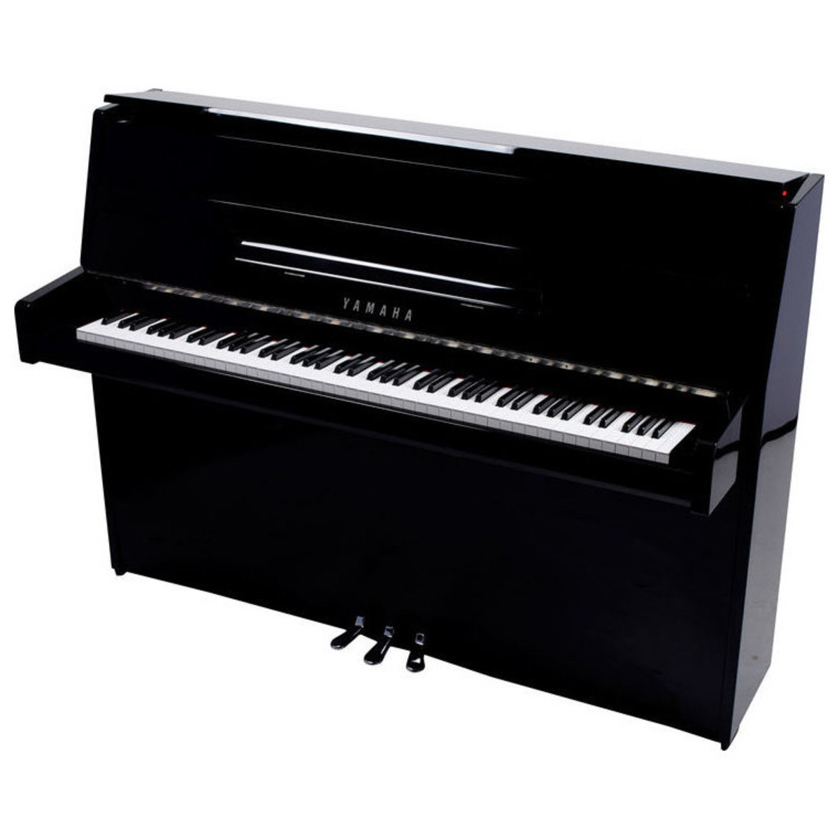 yamaha b1 upright acoustic piano black polyester chrome