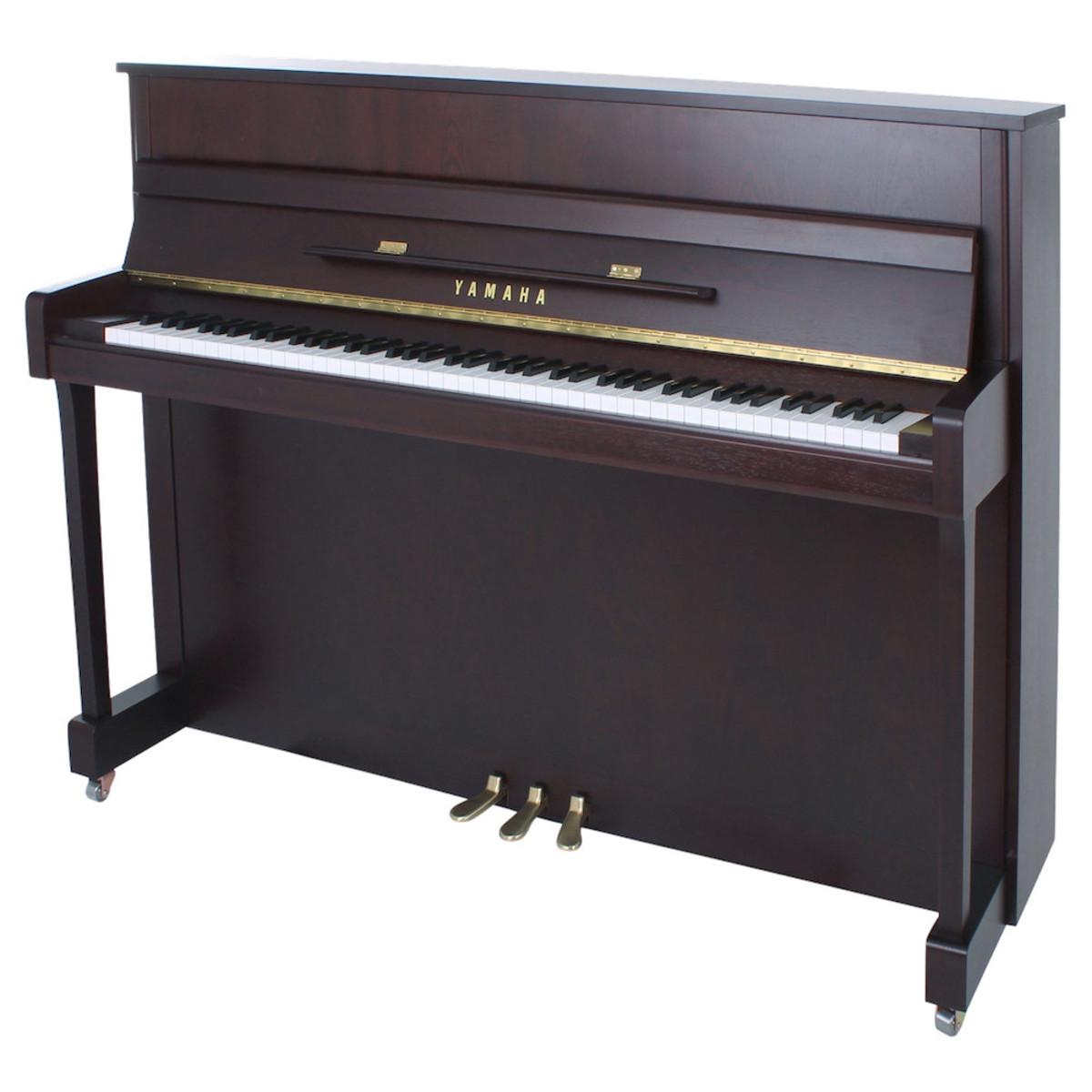 Yamaha b2 upright acoustic piano dark walnut satin at for Yamaha 650 piano