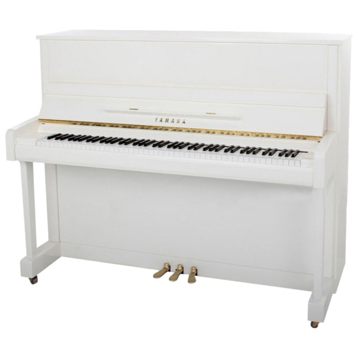 Yamaha b2 upright acoustic piano polished white at for Yamaha piano upright