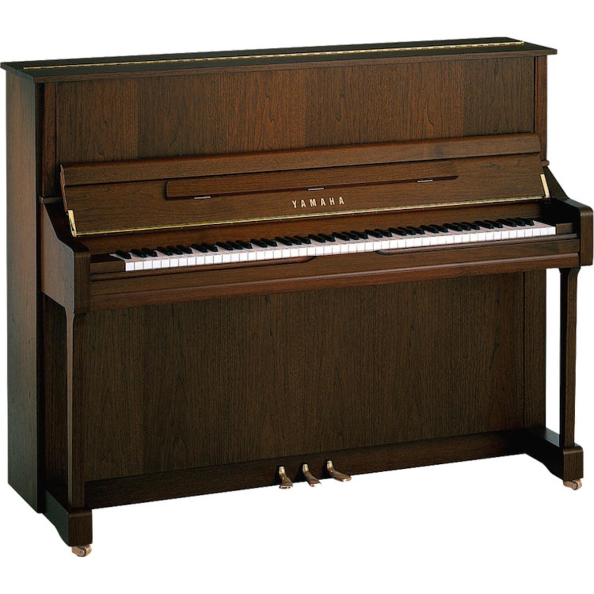 Yamaha b3 upright acoustic piano dark walnut satin at for Yamaha acoustic pianos