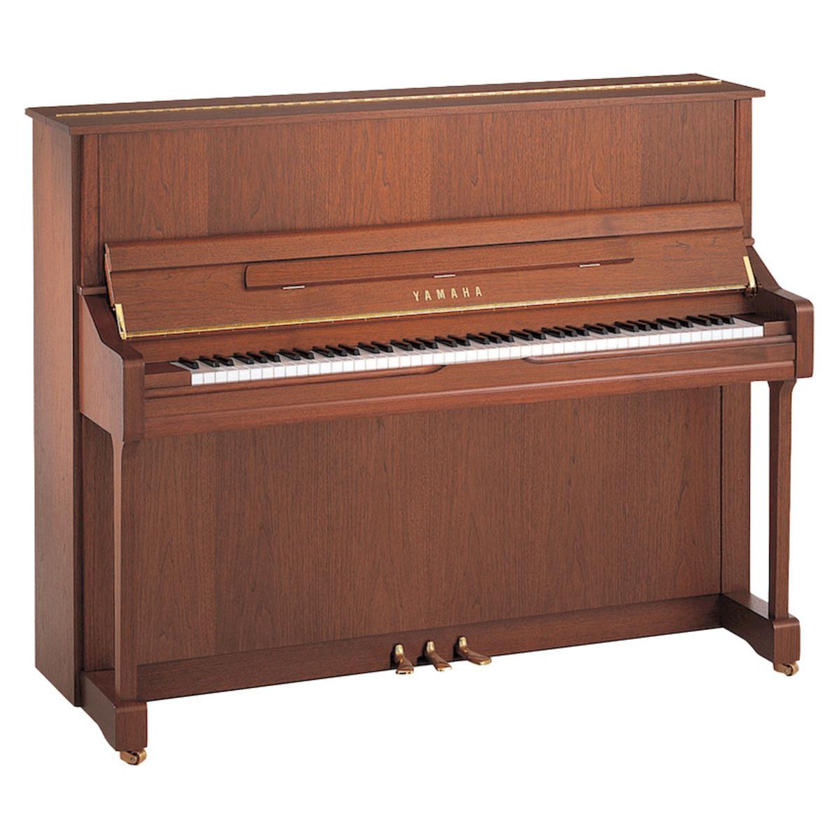 Yamaha u1 upright piano open pore american walnut at for Yamaha upright piano models