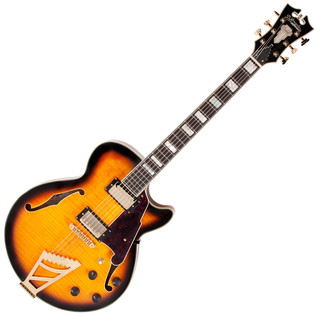 D'Angelico EXSS Semi-Hollow Body Electric Guitar, Vintage Sunburst