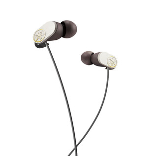 Yamaha EPHW22 Bluetooth Earphones with Remote and In-Line Mic, White