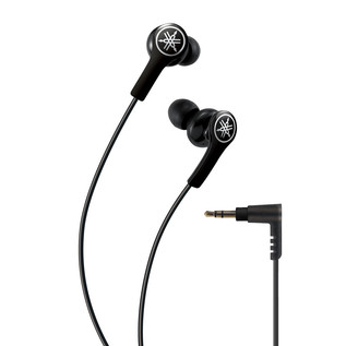 Yamaha EPHM200 Earphones with Remote, Black